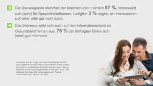 Mehrheit interessiert sich für Gesundheitsthemen