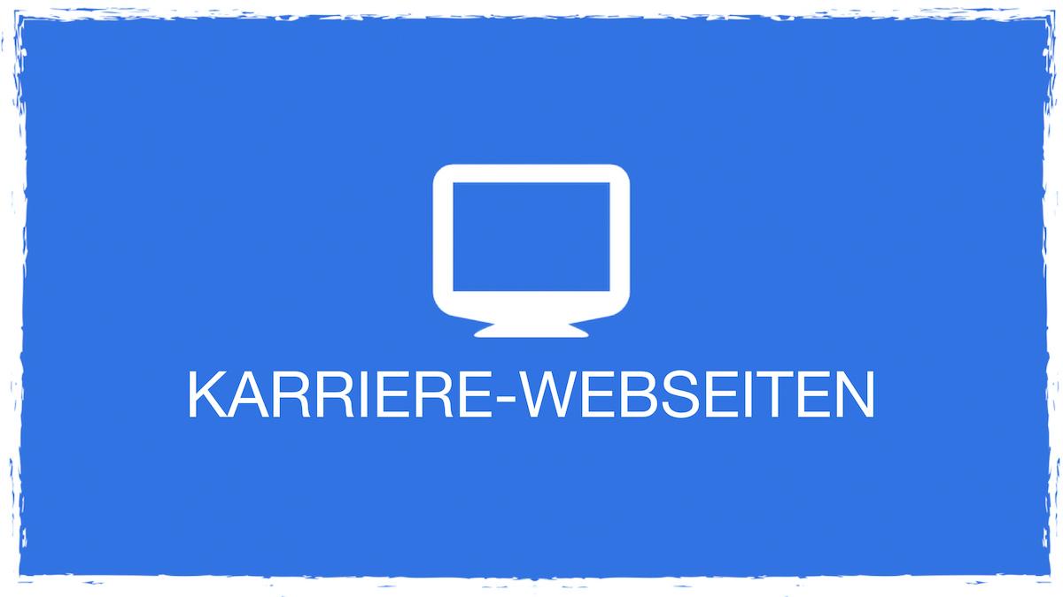 Karriere-Webseiten blau