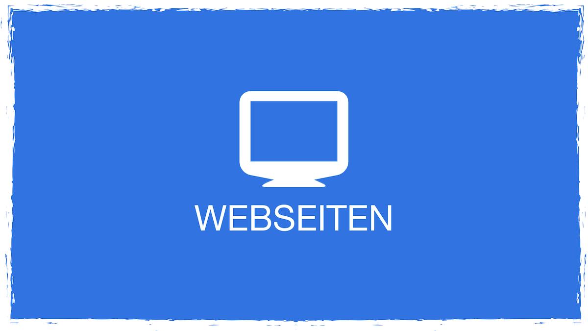 Webseiten blau